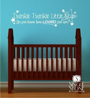 Twinkle Twinkle Little Star Nursery Wall Decal - Children's Baby Vinyl Wall