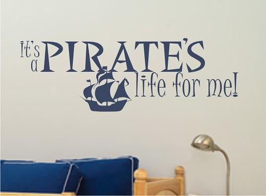 Pirate Ship Wall Decals - Vinyl Stickers Art Graphics Words Lettering