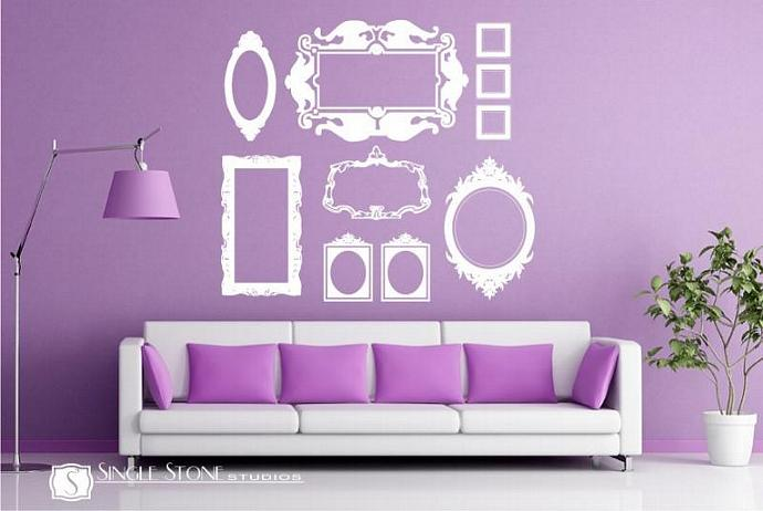 Frame Wall Decals Baroque Collection ( Large)