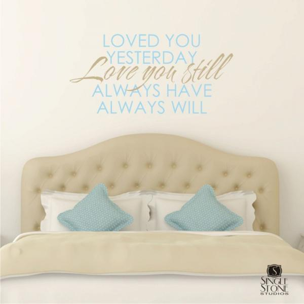 Wall Decal Quote Love You Always - Vinyl Word Art