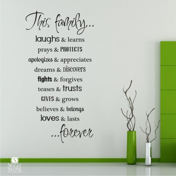 Family Rules Wall Decals - Vinyl Text Wall Words Sticker Art