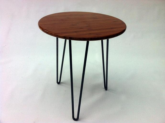 Round Mid Century Modern Side Table By Studio On Zibbet - Midcentury modern side table