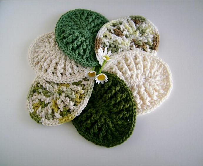 Ombre Greens Custom Crochet Soap Dish, Soap Mat Set