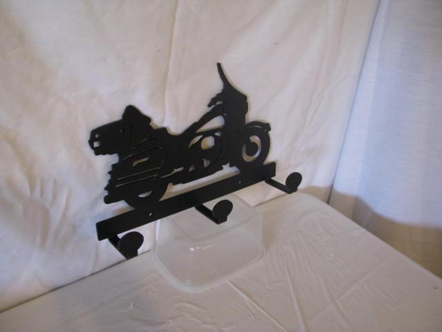 Motorcycle 003 Coat Rack Metal Wall Yard Art Silhouette