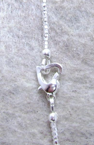 23 Inch Gemstone Pendant Necklace - Silver Seed