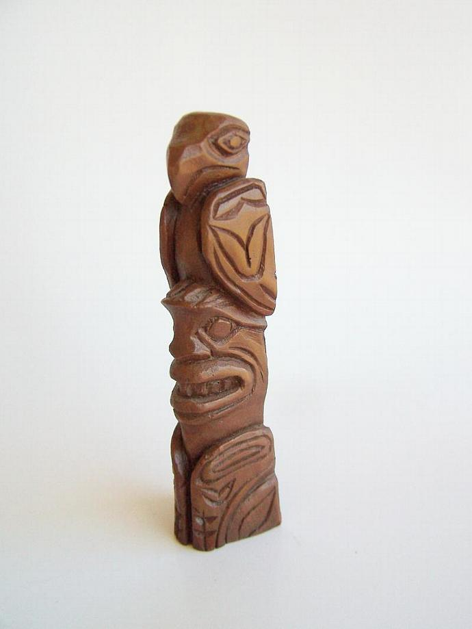 Vintage Made in Alaska Totem Pole , Casted Repro Souvenir Item