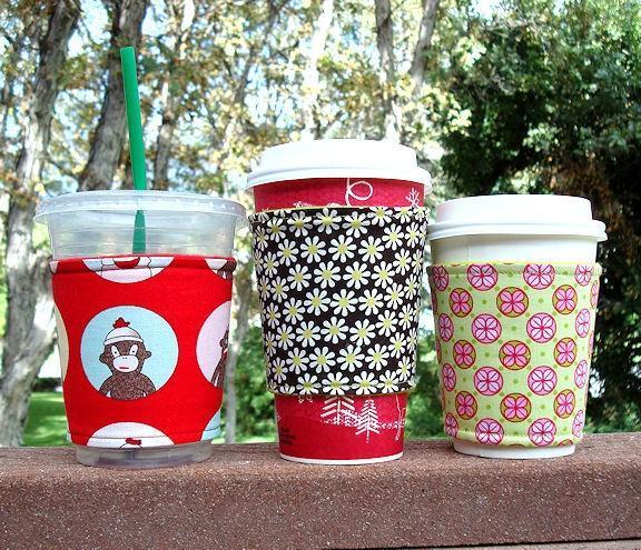 Coffee Cozy / Coffee Sleeve -- Perk Me Up