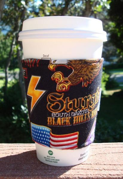 Coffee Cozy -- Harley Hog Biker