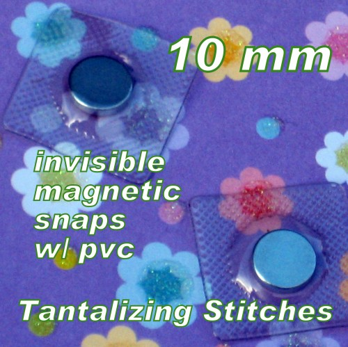 40 Sets 10mm Hidden Magnetic Snaps with PVC