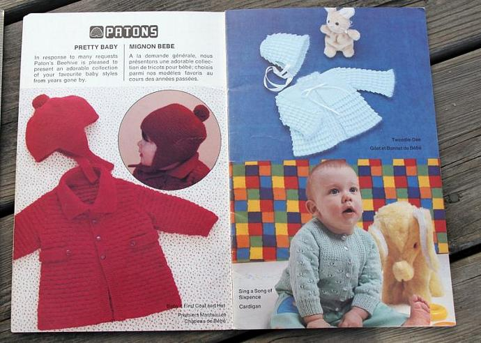 Beehive Pretty Baby Knit and Crochet Patterns / Patons Beehive 420 / Mignon Bebe