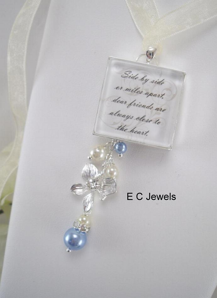 Pearl and Orchid ADD ON for your Custom Bouquet Charm - Pick your color