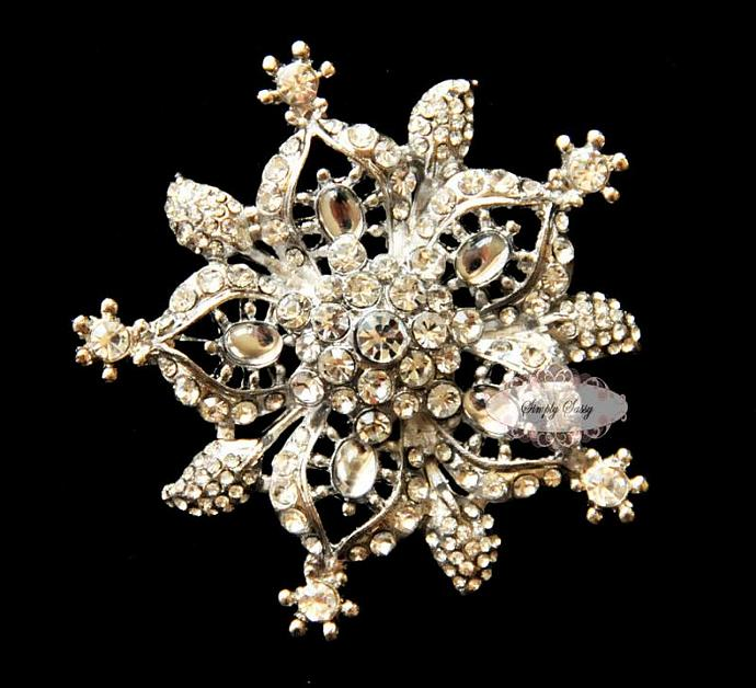 RD108 Rhinestone Crystal Brooch Pin Embellishment Brooch Broach wedding bridal