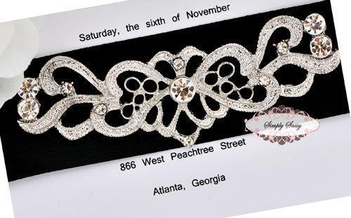 5pcs RD163 STUNNING Rhinestone Metal Flatback Invitation Embellishment Adornment