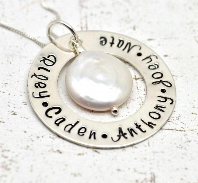 Personalized Mothers Necklace, Personalized Mommy Jewelry, Grandmother, Mothers