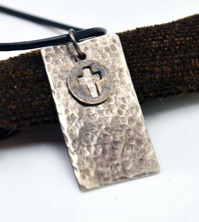 Rectagle Personalized Necklace, Men Jewelry, Unisex Personalized Necklace,