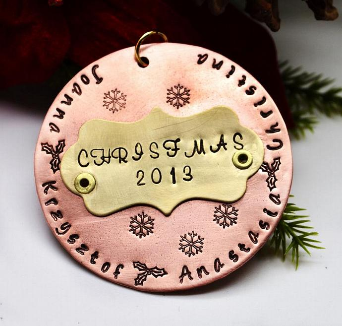 Large Personalized Christmas Ornament, Christmas Keepsake, Family Personalized