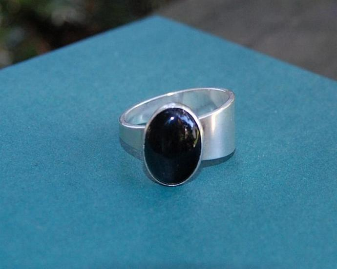 Black Onyx Taper Ring