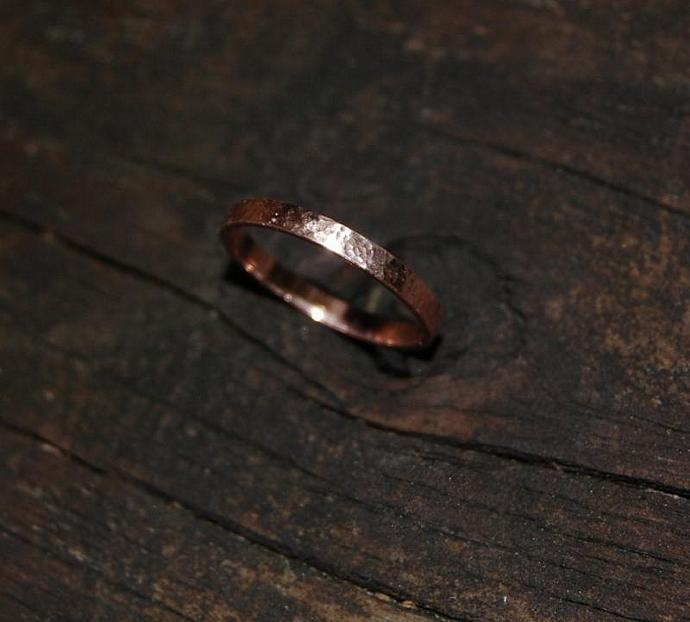 Hammered Rose Gold Sunny Day Band