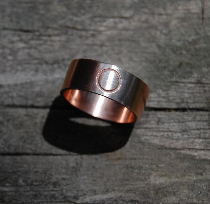 Rose Gold Eternity Commitment Wedding Band 6mm wide