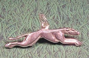 Sterling silver greyhound Pandora style bead