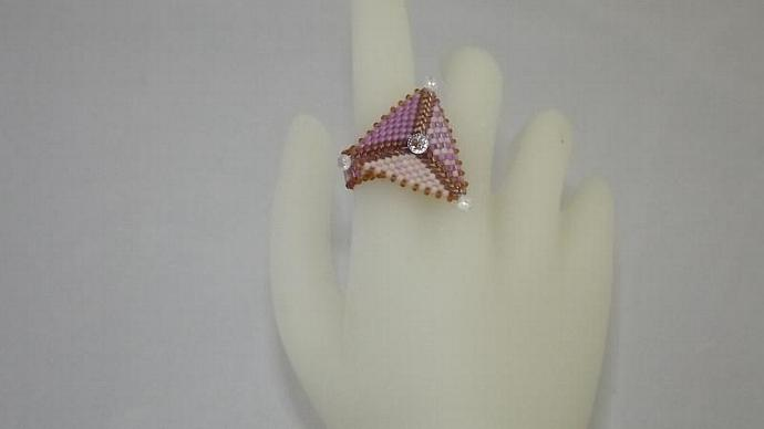 Beaded Triangle Ring