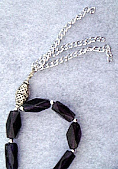 Purple Islamic Subha سبحة or Misbaha مسبحة (Prayer Beads)