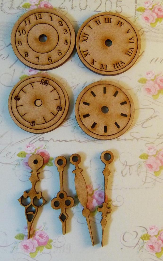 Wood mix clocks set-1