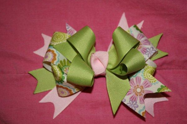 Over the Top Flower Pastel Hair Bow