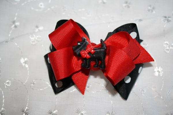 Scottie Dog Holiday hair bow