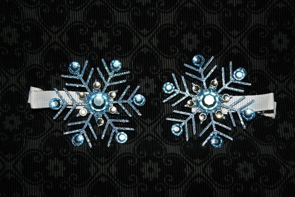Snow Flake  clip bows