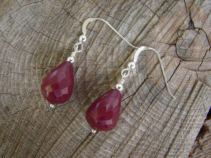 Gorgeous Deep Red Ruby Earrings
