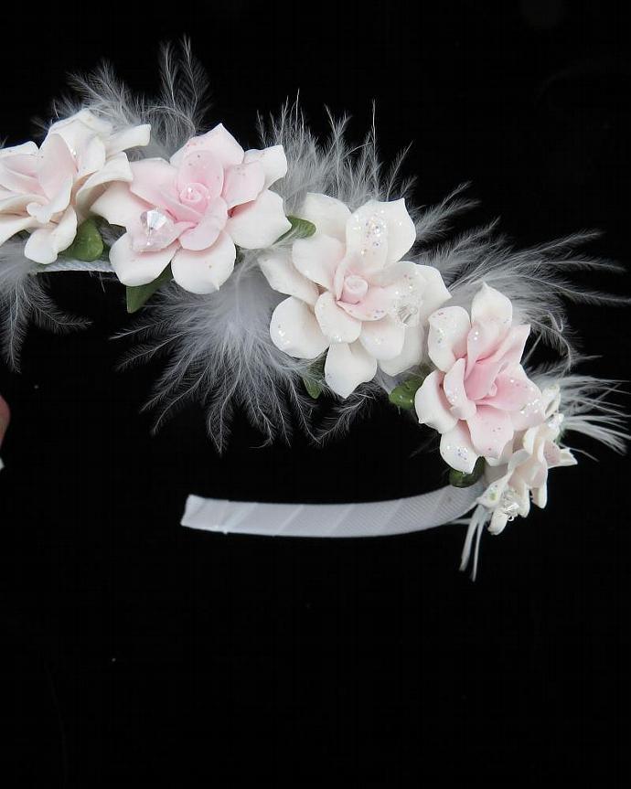 Light Pink Cold Porcelain Floral Headband