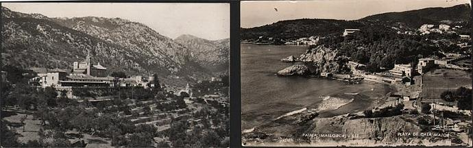 Two vintage postcards of Mallorca