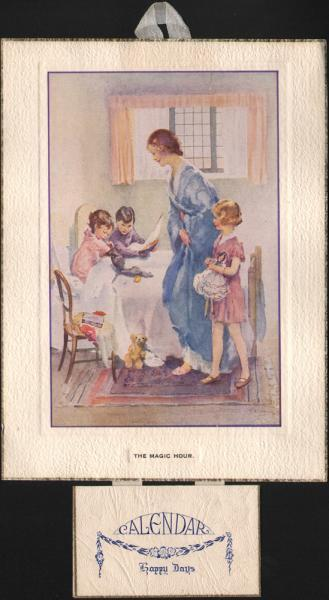 The Magic Hour vintage calendar mount
