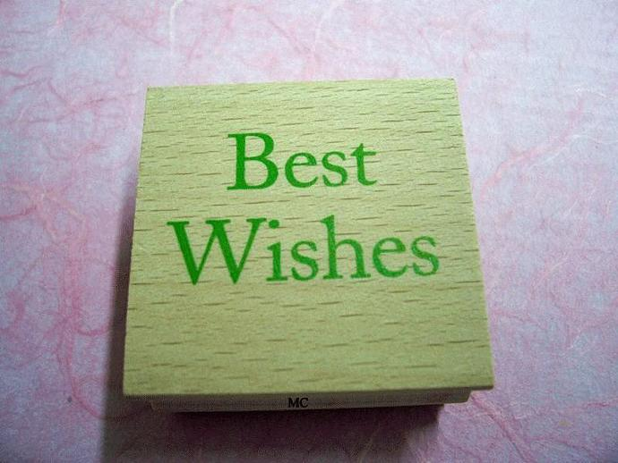 New Best Wishes Rubber Stamp