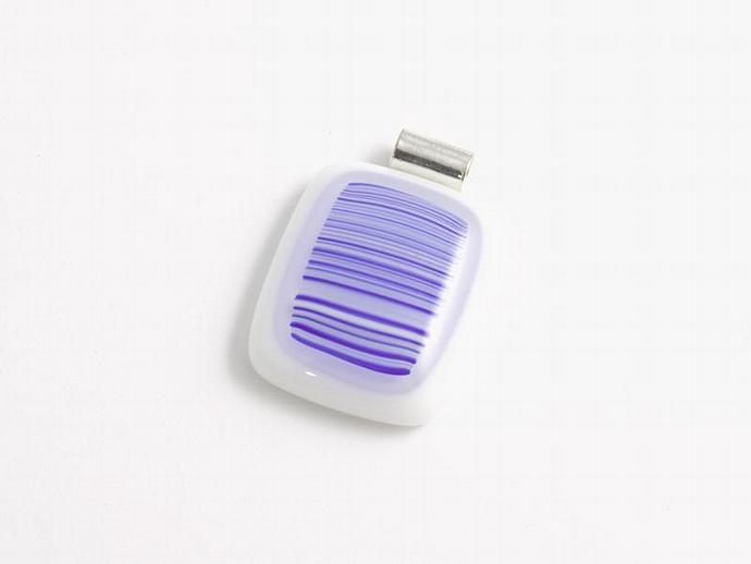 Striped Fused Glass Pendant