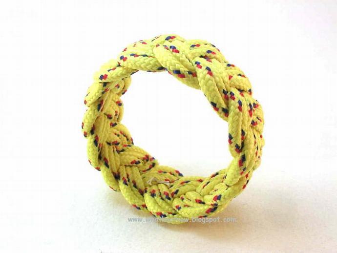 bright yellow rope bracelet 3096