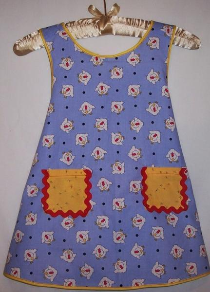 Custom  Farm Chick Apron For Little Girls