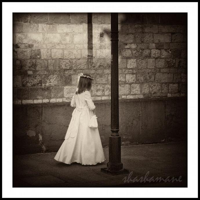 "She moves among the shadows 5 x 5"" fine art photography print"