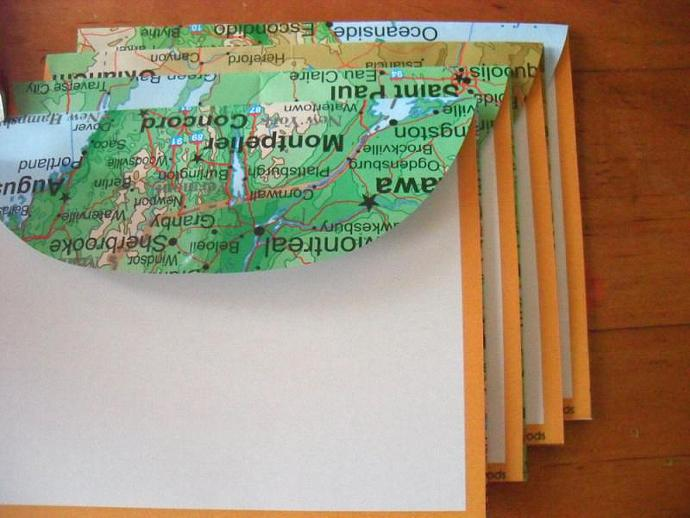 Recycled Map Stationery - Sierra Club