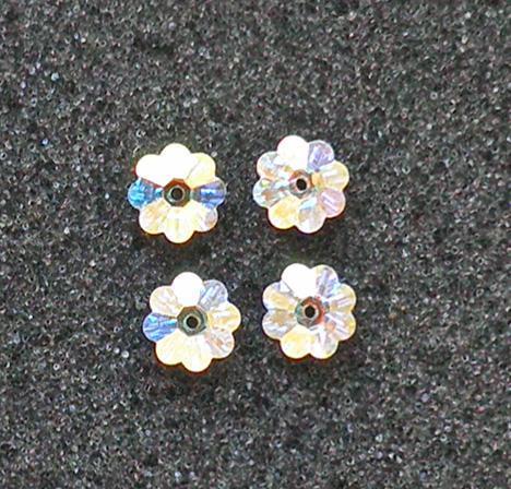 4 Article 3700 Swarovski 8 mm. Crystal AB Margarita beads SW52