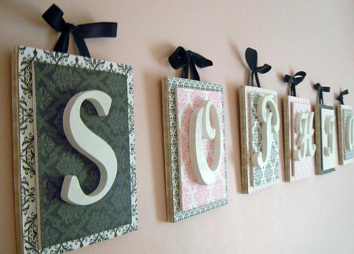 nursery letters custom initials personalized wooden letters wood initials