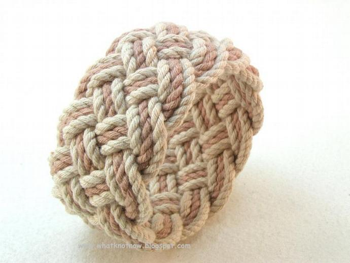tan and taupe nautical knot rope bracelet 3150