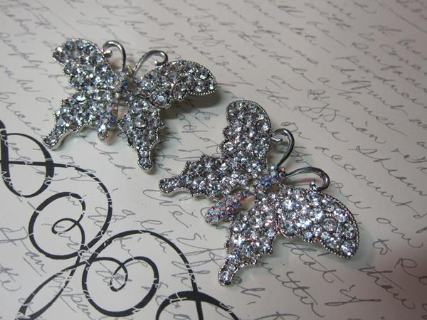 Crystal Pin Brooch Set - 2pc Clear/Silver