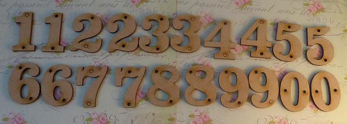 Wooden numbers 0-9
