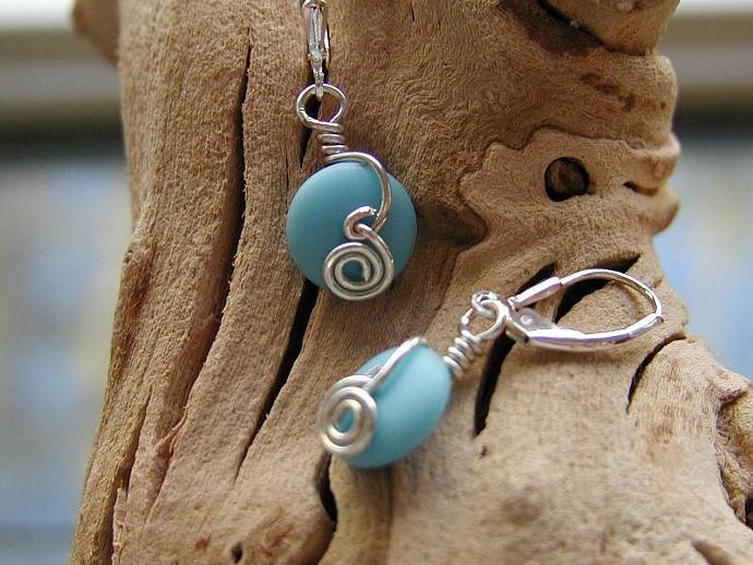 Handmade silver and vintage bead earrings