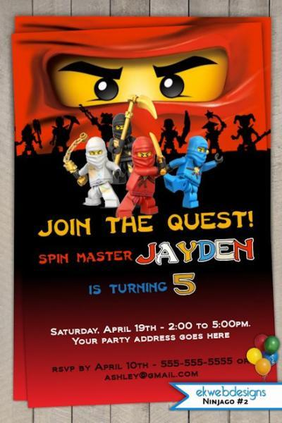 Ninjago Birthday Party Invitation Printable – Ninjago Party Invitations