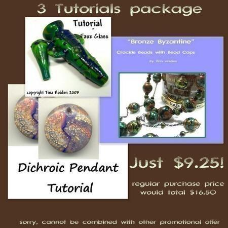 4 tutorial variety package - Polymer Clay Tutorials - Faux Lampworked glass