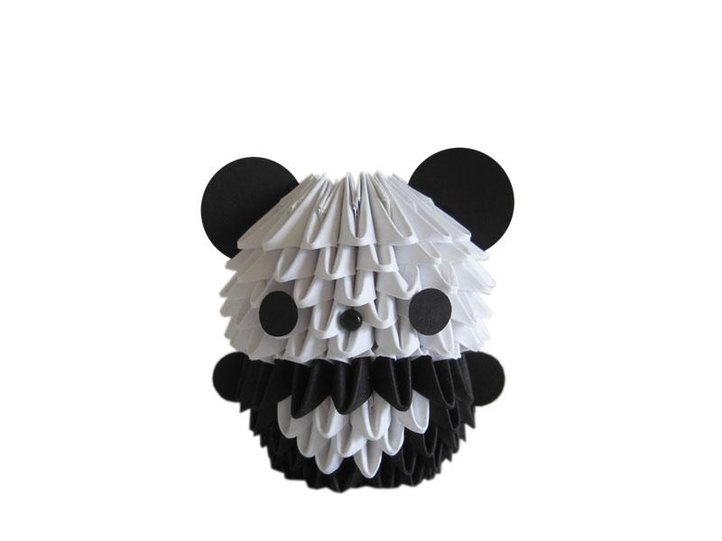 how to make a 3d panda out of paper