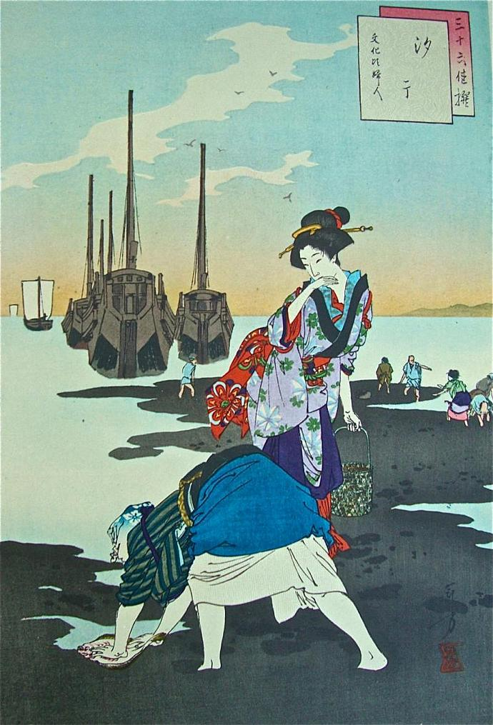 vintage Edo period color prints  in limited edition